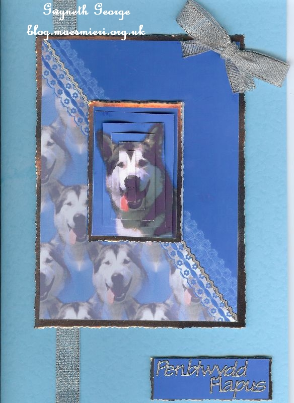 Blue Card with Dog