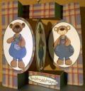 Male Bears oval Folded Pop Out Card