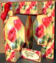 2 Red Roses 3 Panel Pop Up Card
