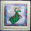 Stained Glass Angel Twisted Pyramid