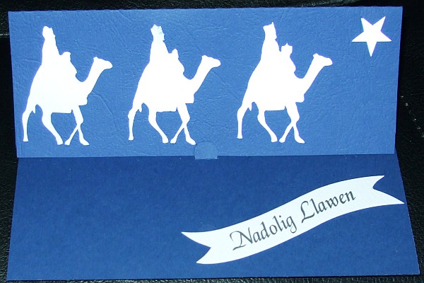 THREE KINGS semi EASEL CARD