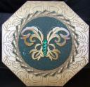 """Feather Butterfly"" Fancy Octagon Shaped Card 6"