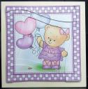 Rosie's Balloons Quick Card with Wavy Spiral Side Stacker