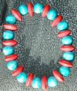 Bracelet - Red and Turquoise