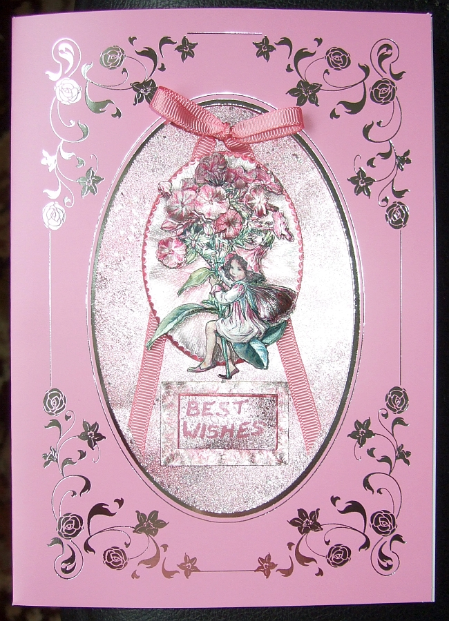Pink Flower Fairy Card 01