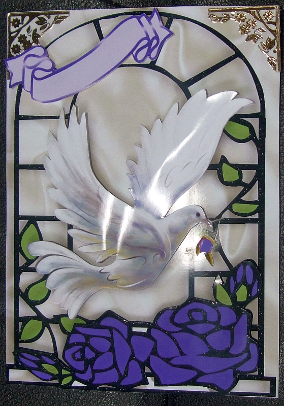 cup292895_415 - card03 - PURPLE ROSES WITH WHITE DOVE IN WINDOW FRAME