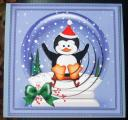 cup336265_359 - card01 - Xmas Sledging Penguin Snowglobe Circle Pyramage Topper