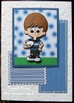 cup211001_1119 - card01C - Rugby Boy (Blue & Black stripes) - Decoupage