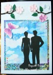 cup427638_1779 - card02C -  Silhouette Bride and Groom