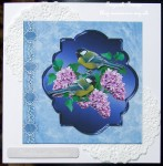cup409765_1865 - card02C - Spring Birds and Lilac Flowers on Blue with Decoupage