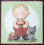 cup473156_5 - card02 - Little Boy Wth Dog & Burger 4x4 Quick Card