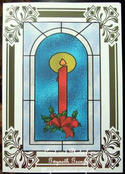 cup475600_415 - card03 - CANDLE IN STAINED GLASS WINDOW PYRAMIDS
