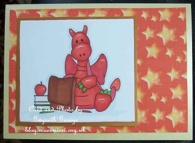 cup339513_1749 - card02 -Jiggy goes back to school Stamp