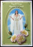 cup453427_1914 - card02 - Fantasy & Flowers - Angel With The Rose Of Peace