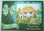cup475738_415 - card02 - PRETTY THATCHED WHITE COTTAGE PYRAMIDS