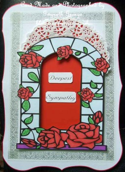 Stained Glass & Rose Frame - card03