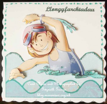 cup373491_437 - card02 - Cute Swimmer Girl Purple Decoupage Sheet