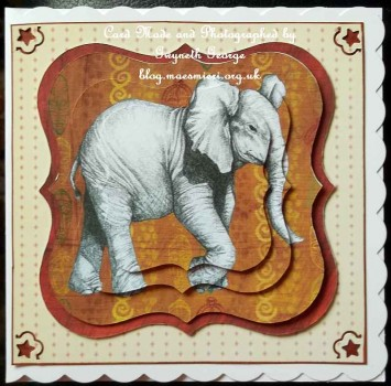 cup514360_1509 - card01 - Elephant topper with decoupage