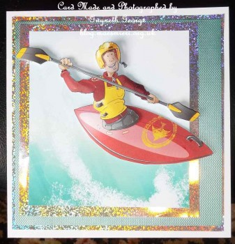 cup519476_437 - card04 - Canoe-Kayak Dude Red Decoupage Sheet