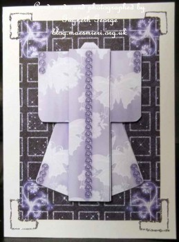 cup521395_442 - card01 - A6 Sparkling Night Kimono Card in Purple Decoupage