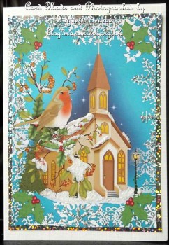 cup542168_539 - card02 - 3 Christmas robin and church toppers